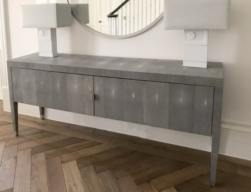 Shagreen Sideboard & Lamps